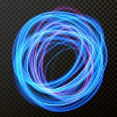 Vector Light Effect Of Line Circle Neon Swirl. Glowing Light Fire Flare poster