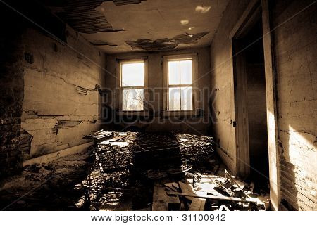 Dark Trashed Room