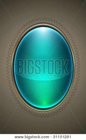 Vector Vintage Glass Frame