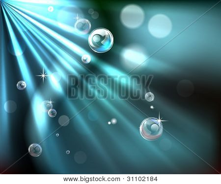 Light Rays Bubble Background