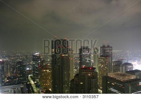 Skyscraper City By Night