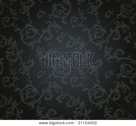 Seamless Pattern mit floral Element im retro-Stil