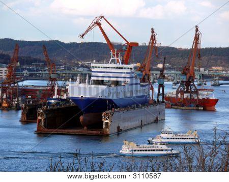 Ship In Dock