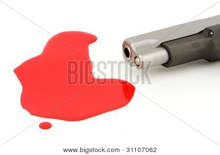 Pistol And Blood