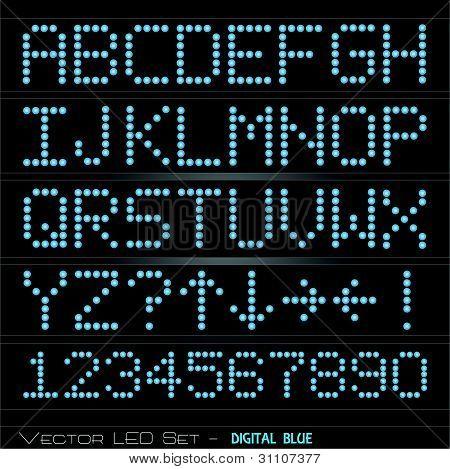 Digital Font Set