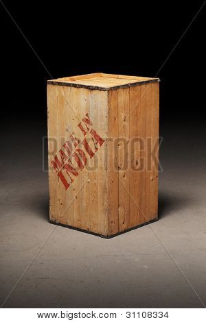 Old wooden crate with