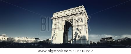 Arc De Triomphe With Special Photograpic Processing