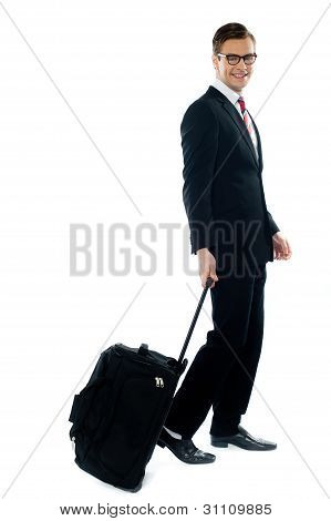 Corporate Person Leaving For Business Meeting