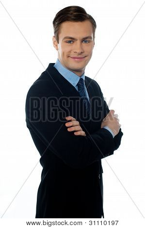 Charming Young Businessman Posing In Style