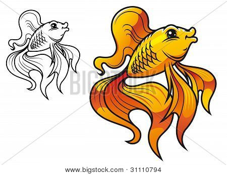 Cartoon Golden Fish