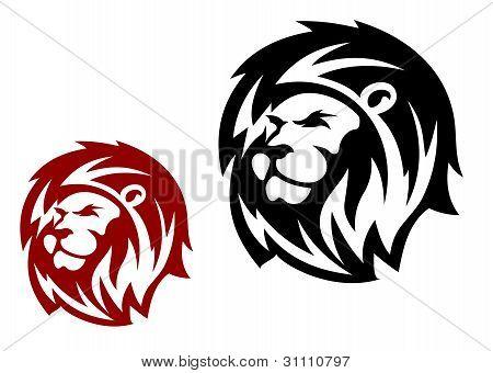 Cabeza de león heráldico