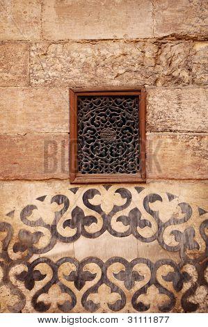wall ornament in Madrasa & Dome of Al-Nassir Mohammed Ibn Qalawan