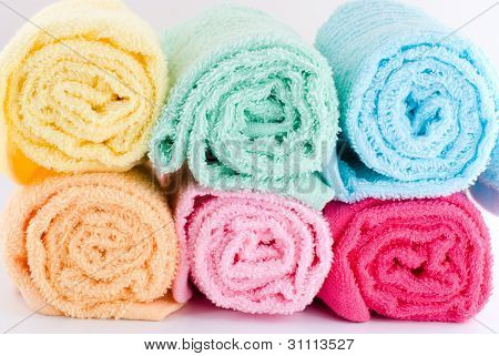 Rolled towels
