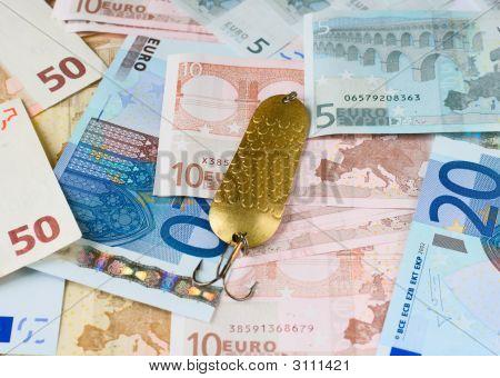 Fishing Bait On Money