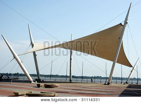 Shade Sail Over The Malecon 2000