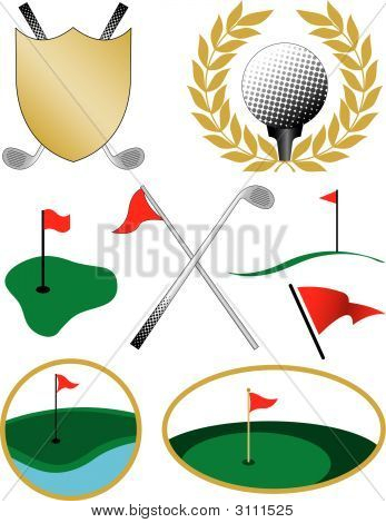 Eight Color Golf Icons