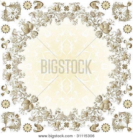 Gold Easter Round Frame