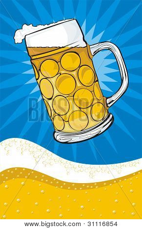 beer - mug and background