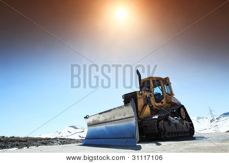 Snow-cleaning Bulldozer