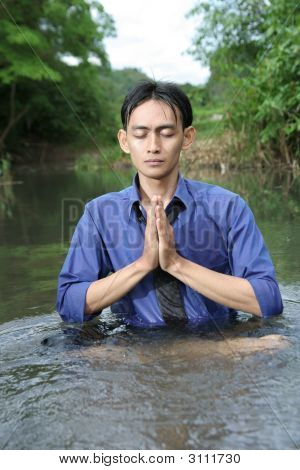 Business Yoga In River