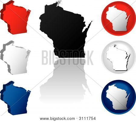 State Of Wisconsin Icons