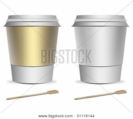 2 Plastic Coffee Cup Templates