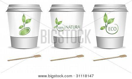 3 Plastic Cups
