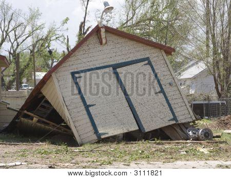 Flattened Garage