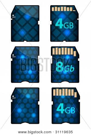 Memory Sd Card Design With Front And Back Sides