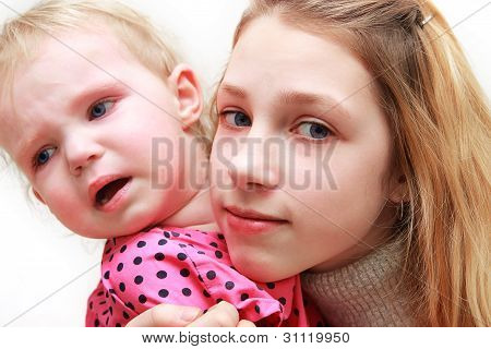 Teenager With A Baby