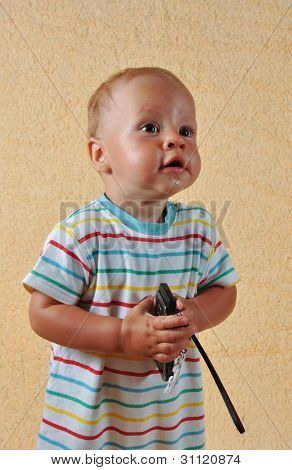 The child and phone