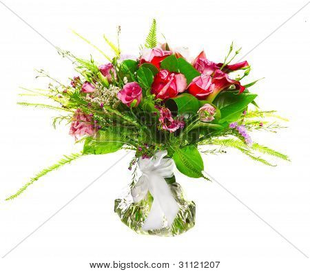bouquet of callas and roses