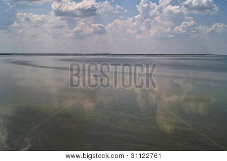 Salt Lake Under Cloudy Sky