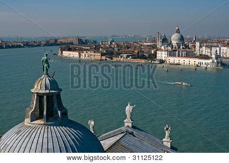 Canale Della Giudecca And Santa Maria Della Salute In Venice