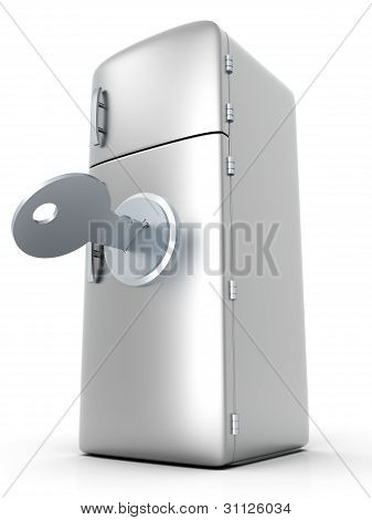 Locked Fridge.