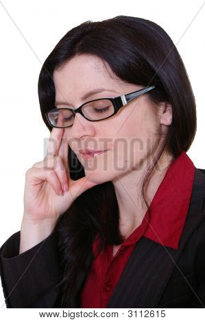 Office Worker Female With Pained Expression