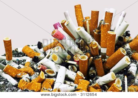 No Smoking! Cigarettes And Ashes
