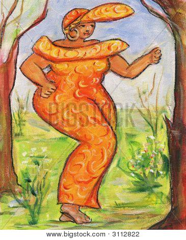 Ebony In Orange