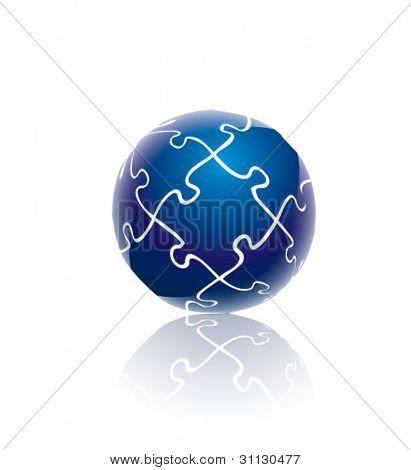 Puzzle del globo azul