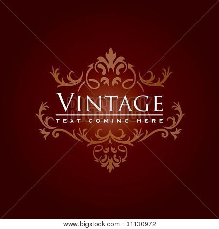 Floral vintage background in editable vector format