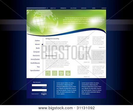 Business-Website-Templates in bearbeitbare Vektorformat
