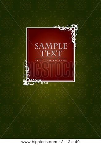 Vintage cover or label concept in editable vector format