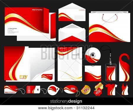Stationery set design in editable vector format