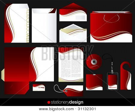 Briefpapier set-Design in bearbeitbare Vektor-format