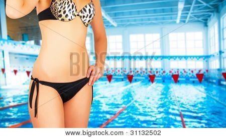 girl at bikini