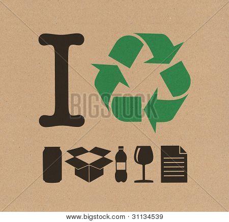 Eu reciclar papelão
