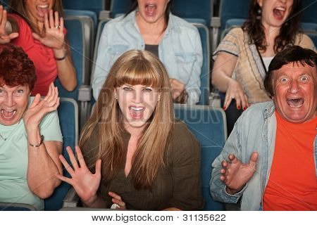 Scared People In Audience