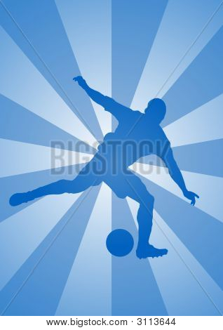 Stricker Silhouette 1  - Kicking A Soccer Ball