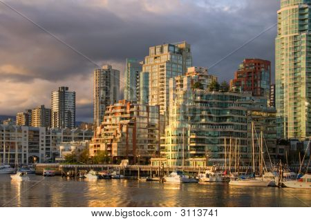 Vancouver - View From Granville Island At Downtown Condos