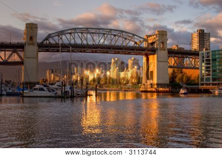 Vancouver - Burrard Bridge At Sunset